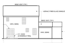 Home Plan - Country Exterior - Rear Elevation Plan #1053-15