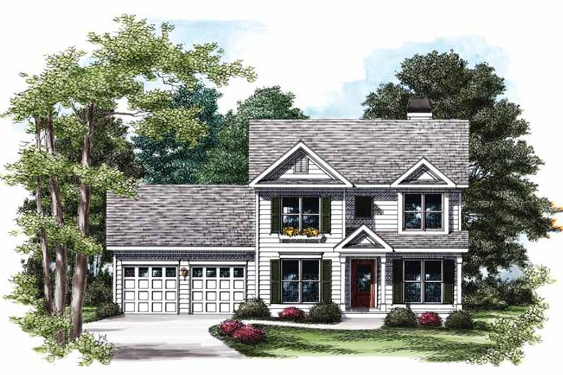 Colonial Exterior - Front Elevation Plan #927-731