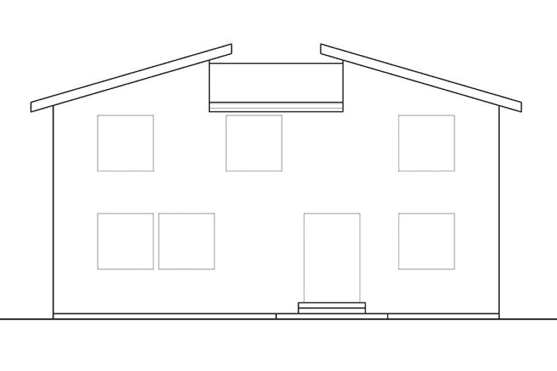 Contemporary Exterior - Rear Elevation Plan #569-11 - Houseplans.com
