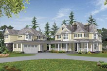 Architectural House Design - Country Exterior - Front Elevation Plan #132-515