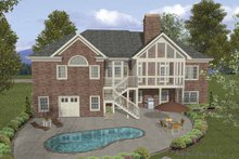 Dream House Plan - Traditional Exterior - Rear Elevation Plan #56-686