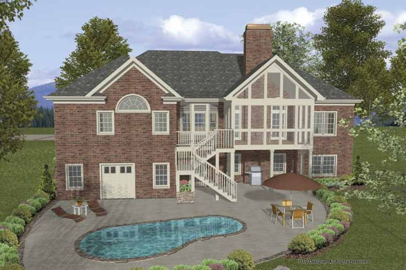 Traditional Exterior - Rear Elevation Plan #56-686 - Houseplans.com