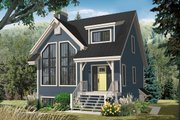 Country Style House Plan - 2 Beds 2.5 Baths 1956 Sq/Ft Plan #23-2419 Exterior - Front Elevation