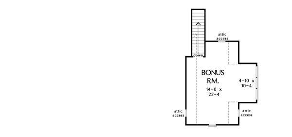 Home Plan - Optional Bonus Level