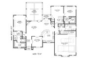 European Style House Plan - 4 Beds 3.5 Baths 3500 Sq/Ft Plan #932-5 Floor Plan - Main Floor Plan
