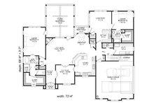 European Floor Plan - Main Floor Plan Plan #932-5