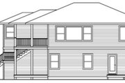 Contemporary Style House Plan - 2 Beds 2.5 Baths 2041 Sq/Ft Plan #124-757 Exterior - Other Elevation