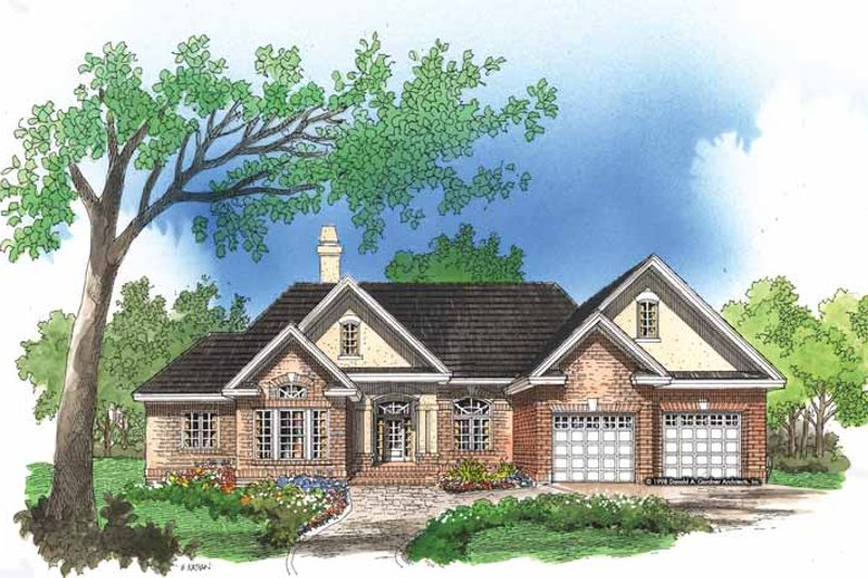 Ranch Exterior - Front Elevation Plan #929-301