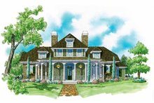 Dream House Plan - Classical Exterior - Front Elevation Plan #930-214