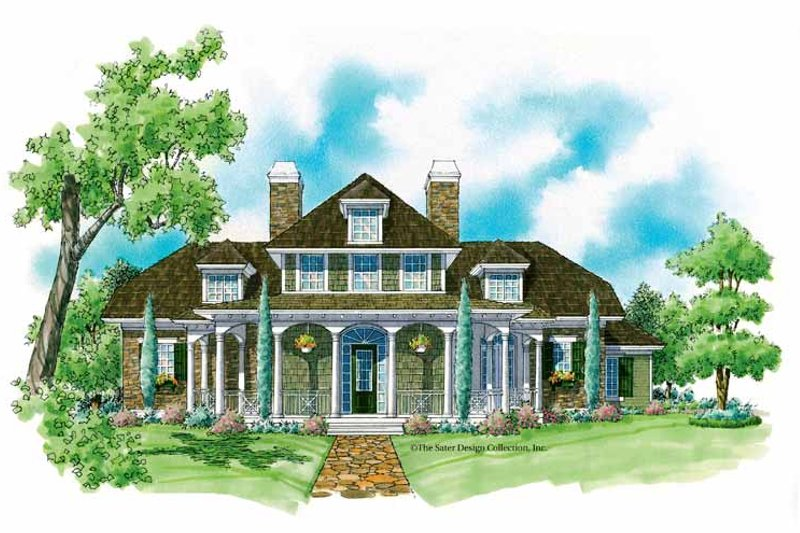 Classical Exterior - Front Elevation Plan #930-214