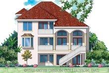 House Plan Design - Mediterranean Exterior - Rear Elevation Plan #930-143