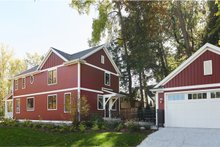Farmhouse Exterior - Rear Elevation Plan #901-136