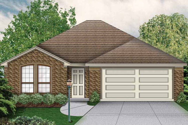 Traditional Exterior - Front Elevation Plan #84-747 - Houseplans.com