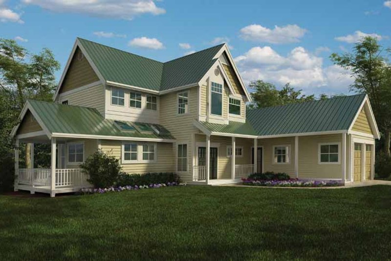 Country Exterior - Front Elevation Plan #118-154 - Houseplans.com