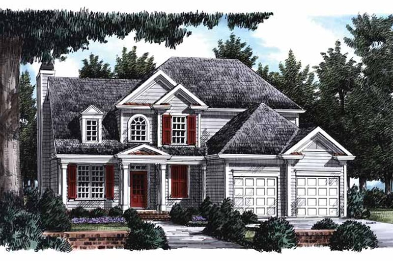 Colonial Exterior - Front Elevation Plan #927-793