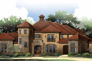 House Plan Design - Mediterranean Exterior - Front Elevation Plan #952-209