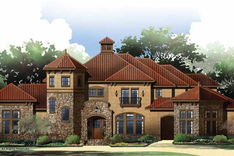 House Plan Design - Mediterranean Exterior - Front Elevation Plan #952-209