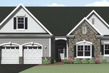 Ranch Exterior - Front Elevation Plan #1010-28