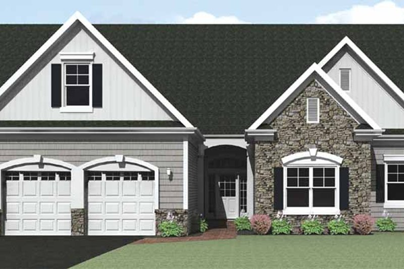 Architectural House Design - Ranch Exterior - Front Elevation Plan #1010-28