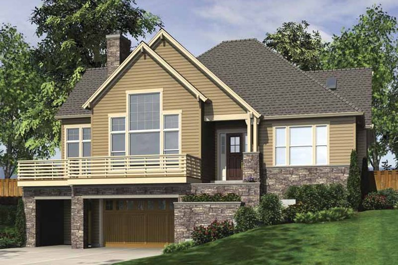 Craftsman Exterior - Front Elevation Plan #48-862 - Houseplans.com