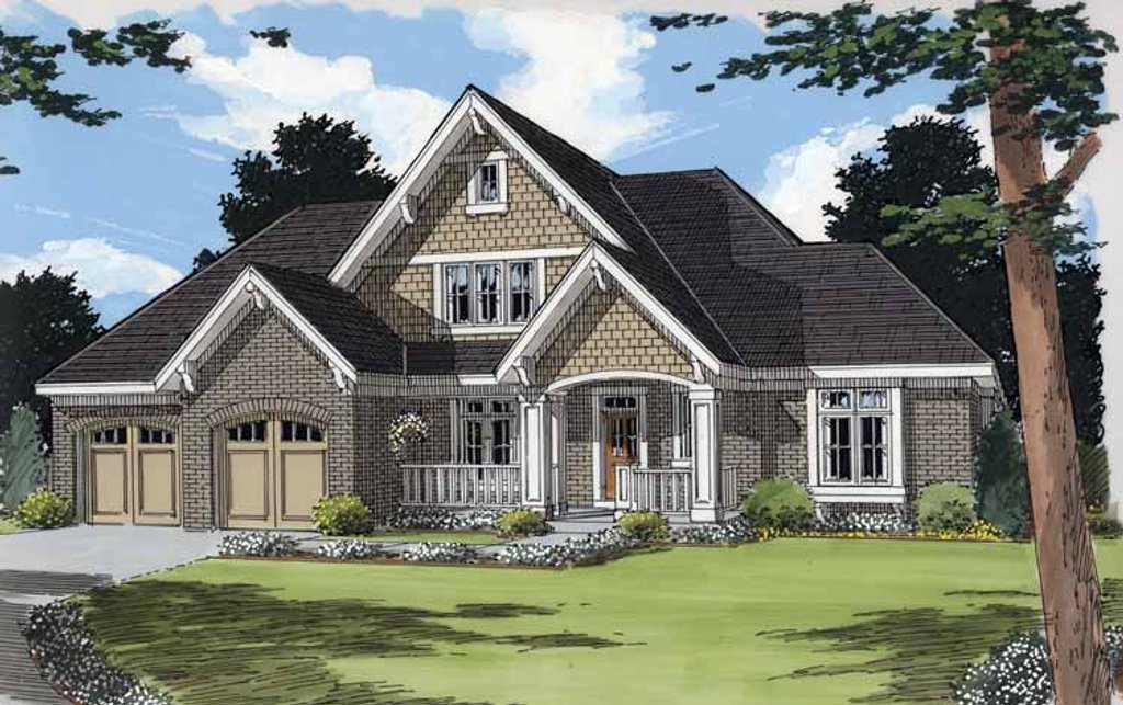 Traditional Exterior Front Elevation Plan 46 824