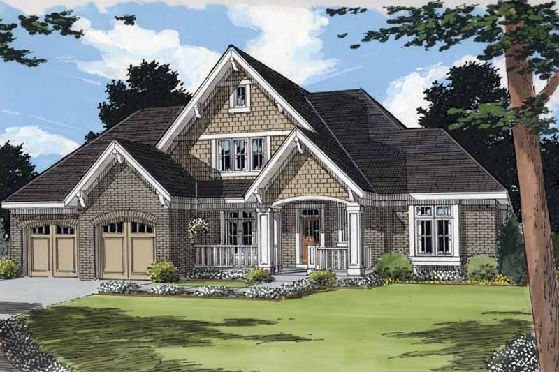 Traditional Exterior - Front Elevation Plan #46-824 - Houseplans.com