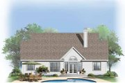 Country Style House Plan - 3 Beds 2 Baths 1536 Sq/Ft Plan #929-747 Exterior - Rear Elevation