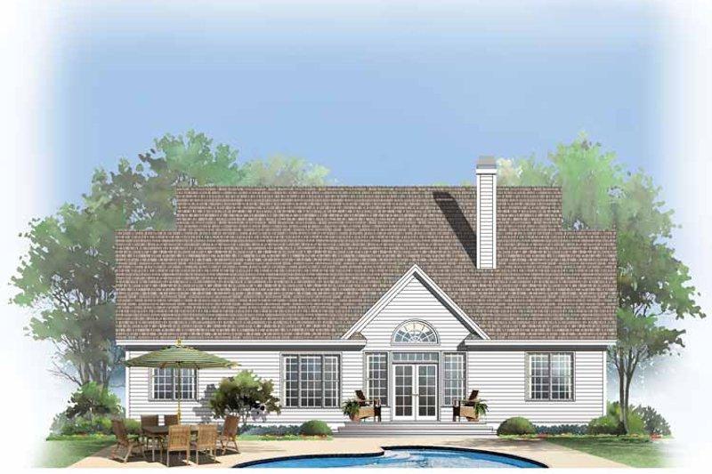 Country Exterior - Rear Elevation Plan #929-747 - Houseplans.com