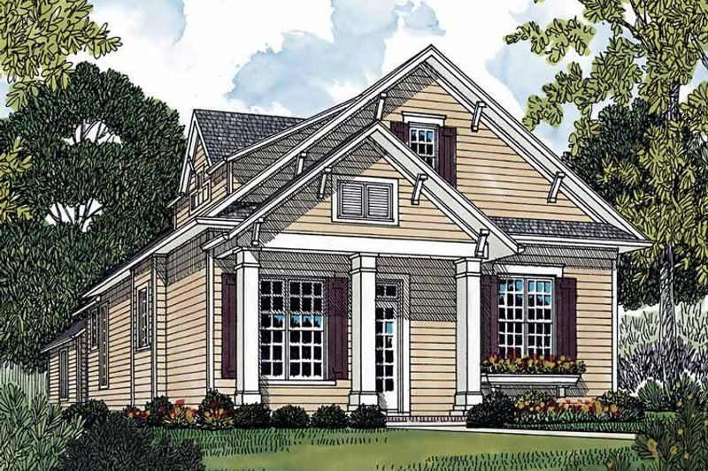 Country Exterior - Front Elevation Plan #453-500