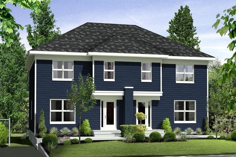Contemporary Style House Plan - 5 Beds 2 Baths 2666 Sq/Ft Plan #25-4520 Exterior - Front Elevation