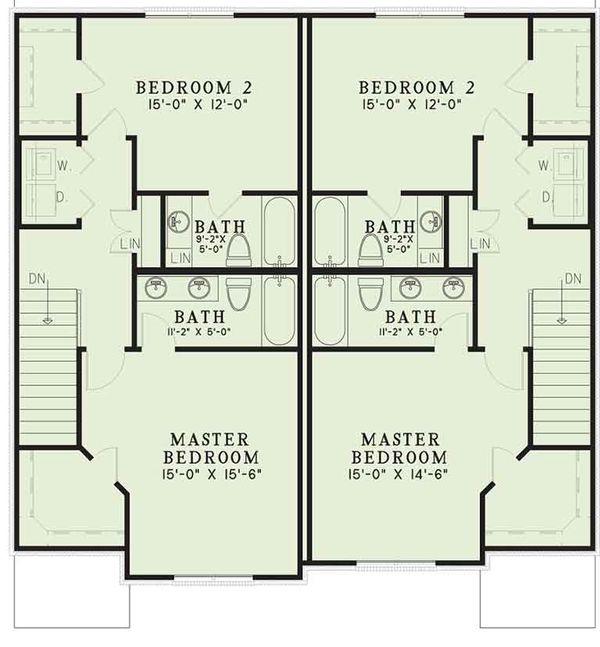European Floor Plan - Upper Floor Plan Plan #17-3400