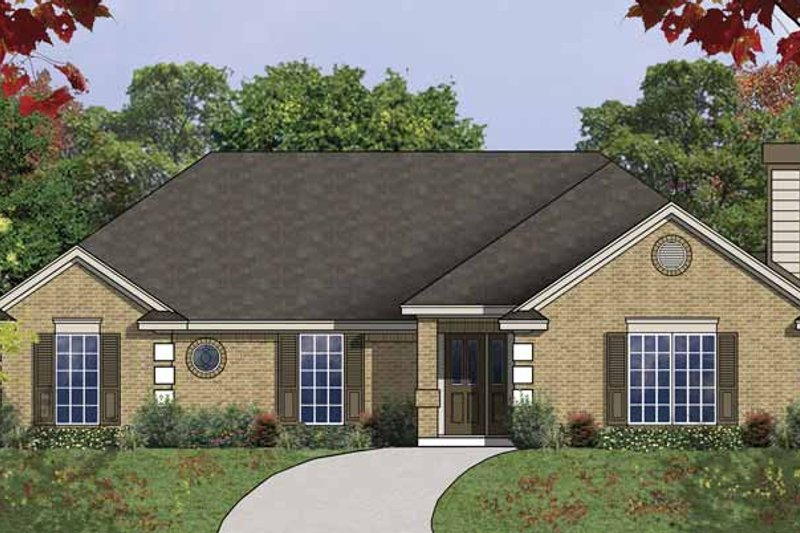 Traditional Exterior - Front Elevation Plan #40-502 - Houseplans.com