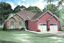 Home Plan - Traditional Exterior - Front Elevation Plan #17-2735