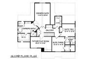 Craftsman Style House Plan - 4 Beds 3 Baths 2877 Sq/Ft Plan #413-841 Floor Plan - Upper Floor Plan