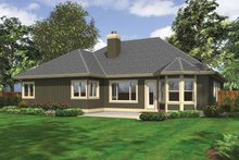 Dream House Plan - Ranch Exterior - Rear Elevation Plan #132-535
