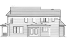 Farmhouse Exterior - Rear Elevation Plan #46-884