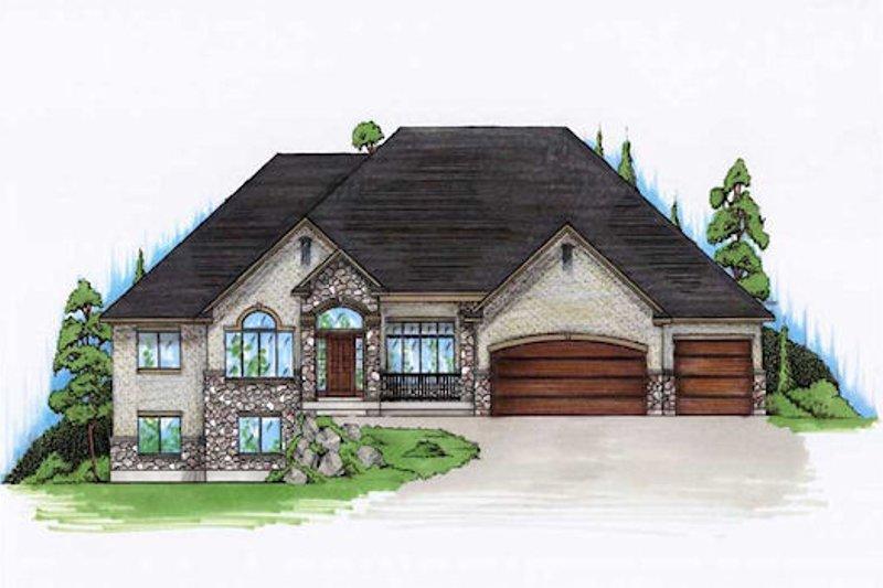 House Plan Design - European Exterior - Front Elevation Plan #5-361