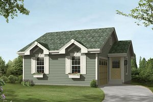 Cottage Exterior - Front Elevation Plan #57-394