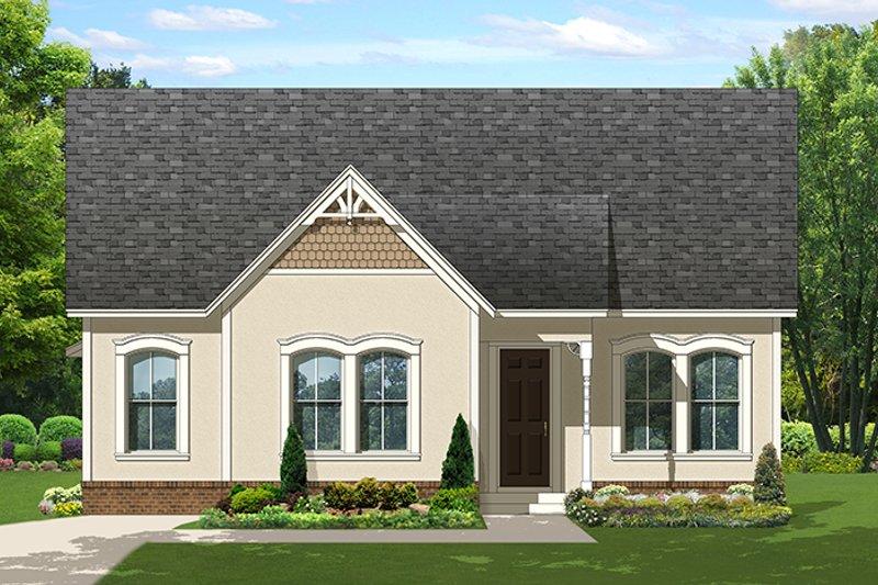 Ranch Exterior - Front Elevation Plan #1058-140 - Houseplans.com