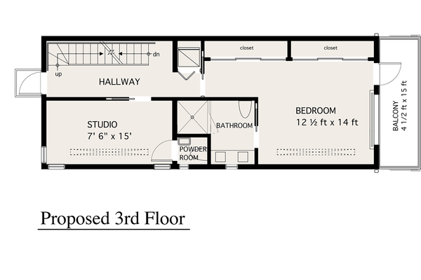 Modern Floor Plan - Upper Floor Plan #905-4