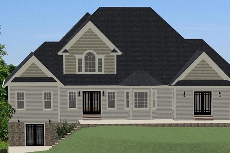 Traditional Exterior - Rear Elevation Plan #898-39 - Houseplans.com