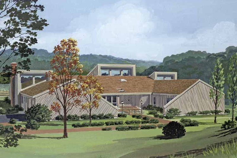 Home Plan - Contemporary Exterior - Front Elevation Plan #314-254
