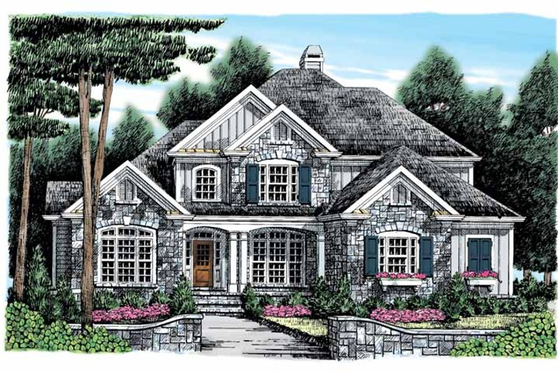 Architectural House Design - Country Exterior - Front Elevation Plan #927-890