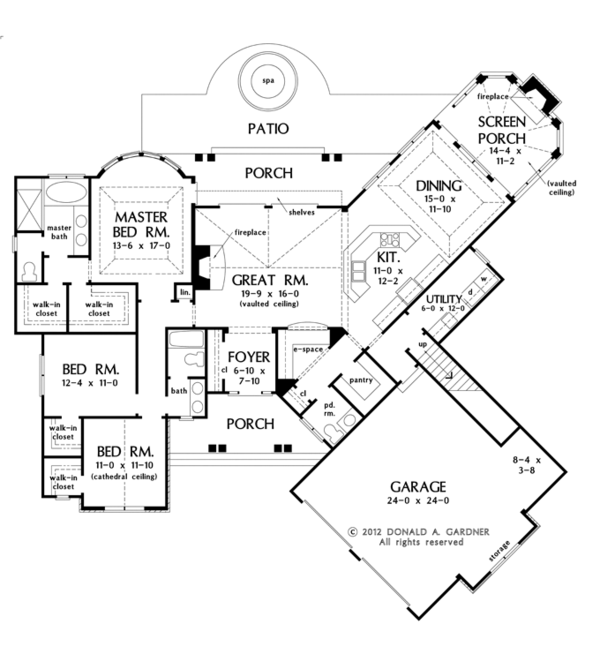 European Floor Plan - Main Floor Plan Plan #929-950