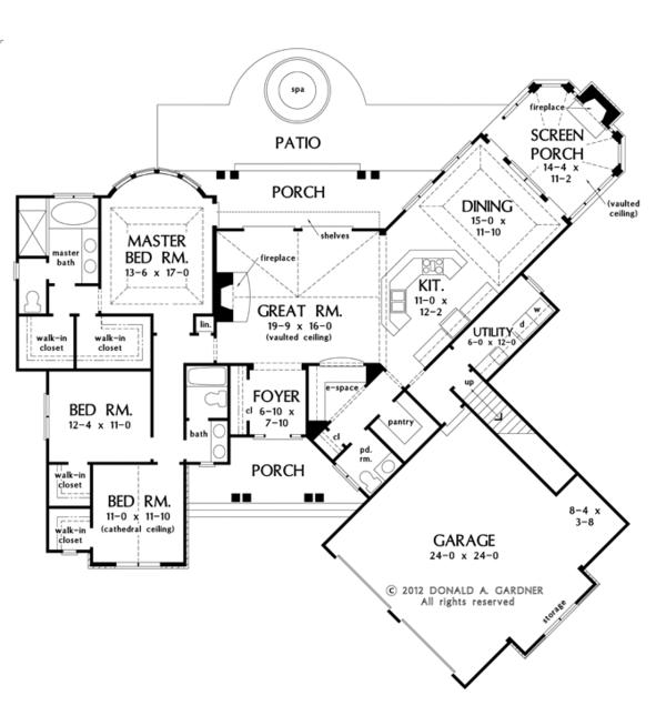 European Floor Plan - Main Floor Plan #929-950