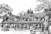 Bungalow Style House Plan - 3 Beds 3 Baths 3179 Sq/Ft Plan #78-127 Exterior - Front Elevation