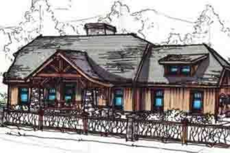 Dream House Plan - European Exterior - Front Elevation Plan #17-2222