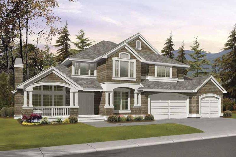 Craftsman Exterior - Front Elevation Plan #132-390