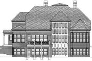 Colonial Style House Plan - 4 Beds 3.5 Baths 3159 Sq/Ft Plan #119-126 Exterior - Rear Elevation