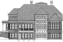 Colonial Exterior - Rear Elevation Plan #119-126